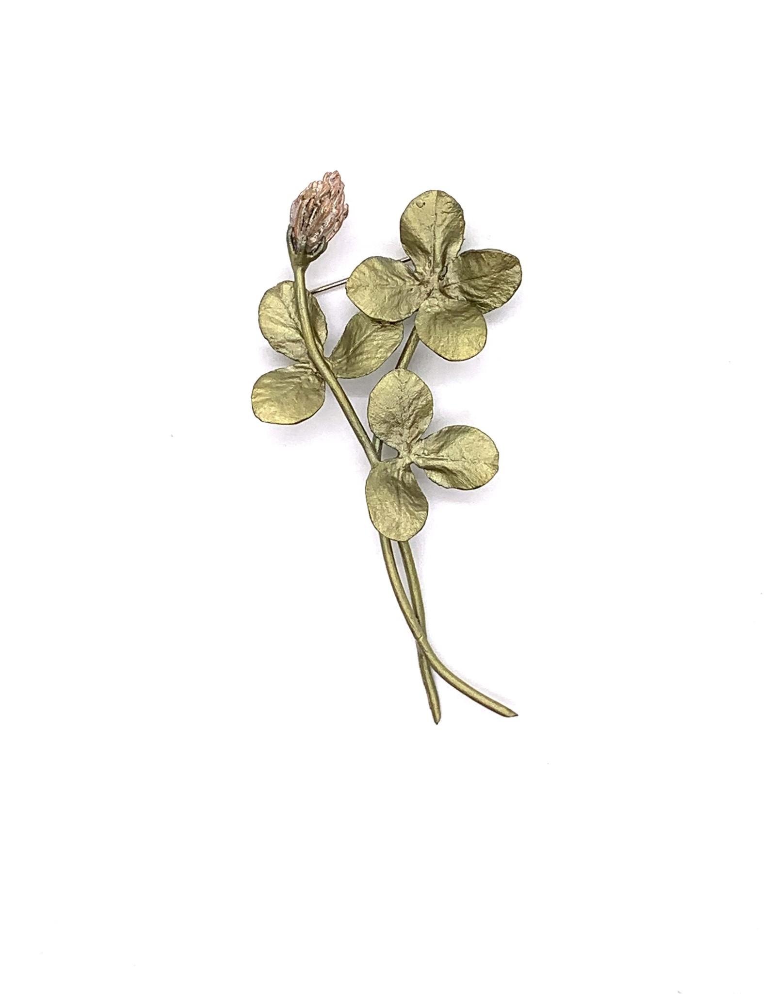 Bronze Clover Pin