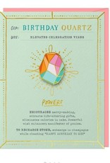 Birthday Quartz Card & Pin