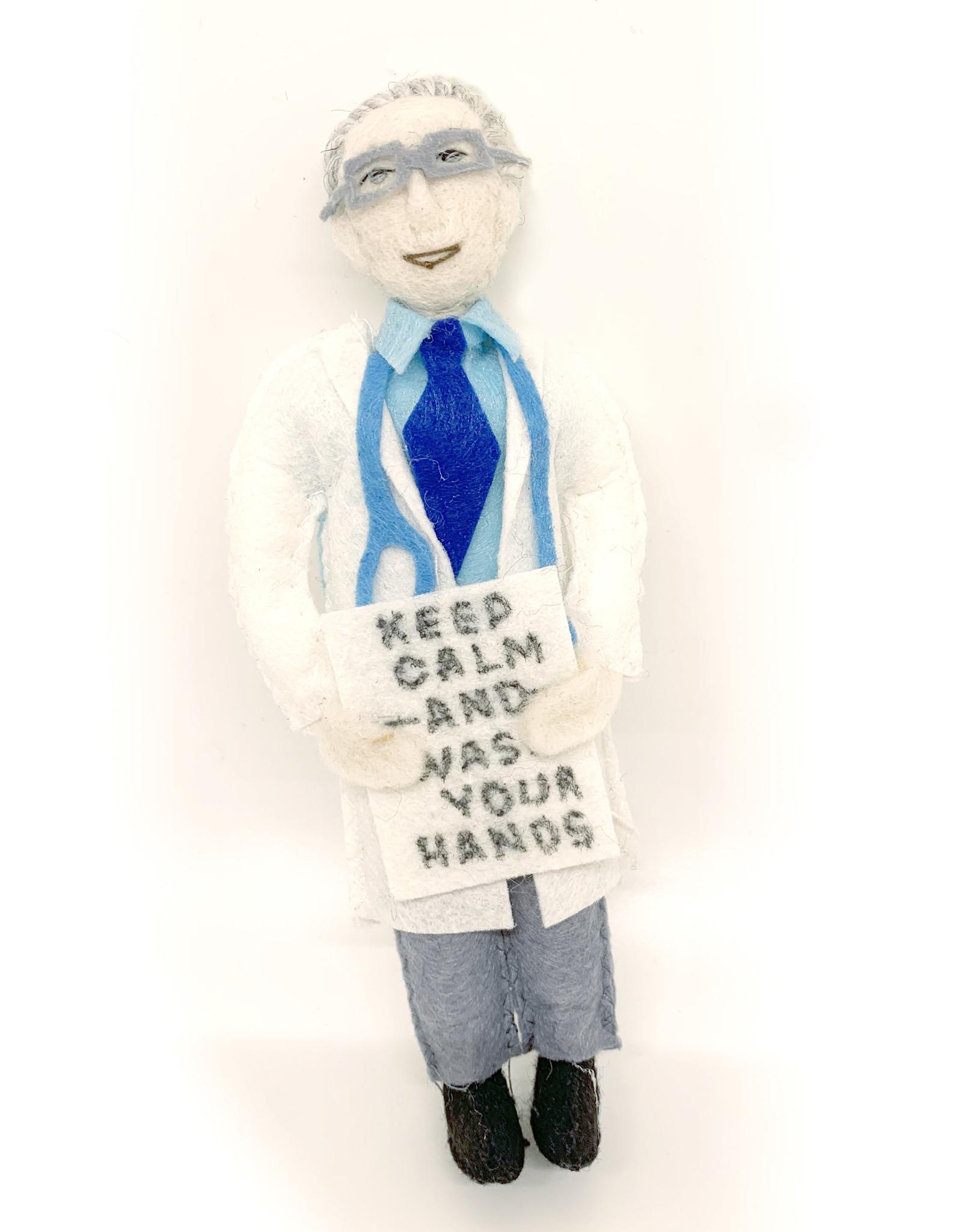 Felt Dr. Fauci Doll
