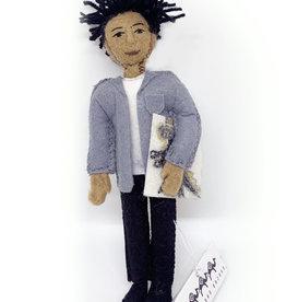 Jean Michel Basquiat Felt Doll