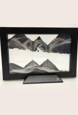 Moving Sand Art Silhouette Black