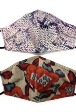 Cool Toned Japanese Kimono Face Mask