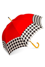 Umbrella Red and Black Polka Dot