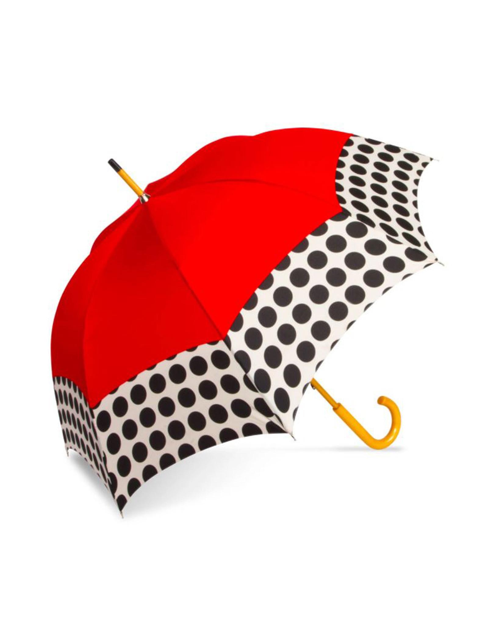 Red and Black Polka Dot Umbrella