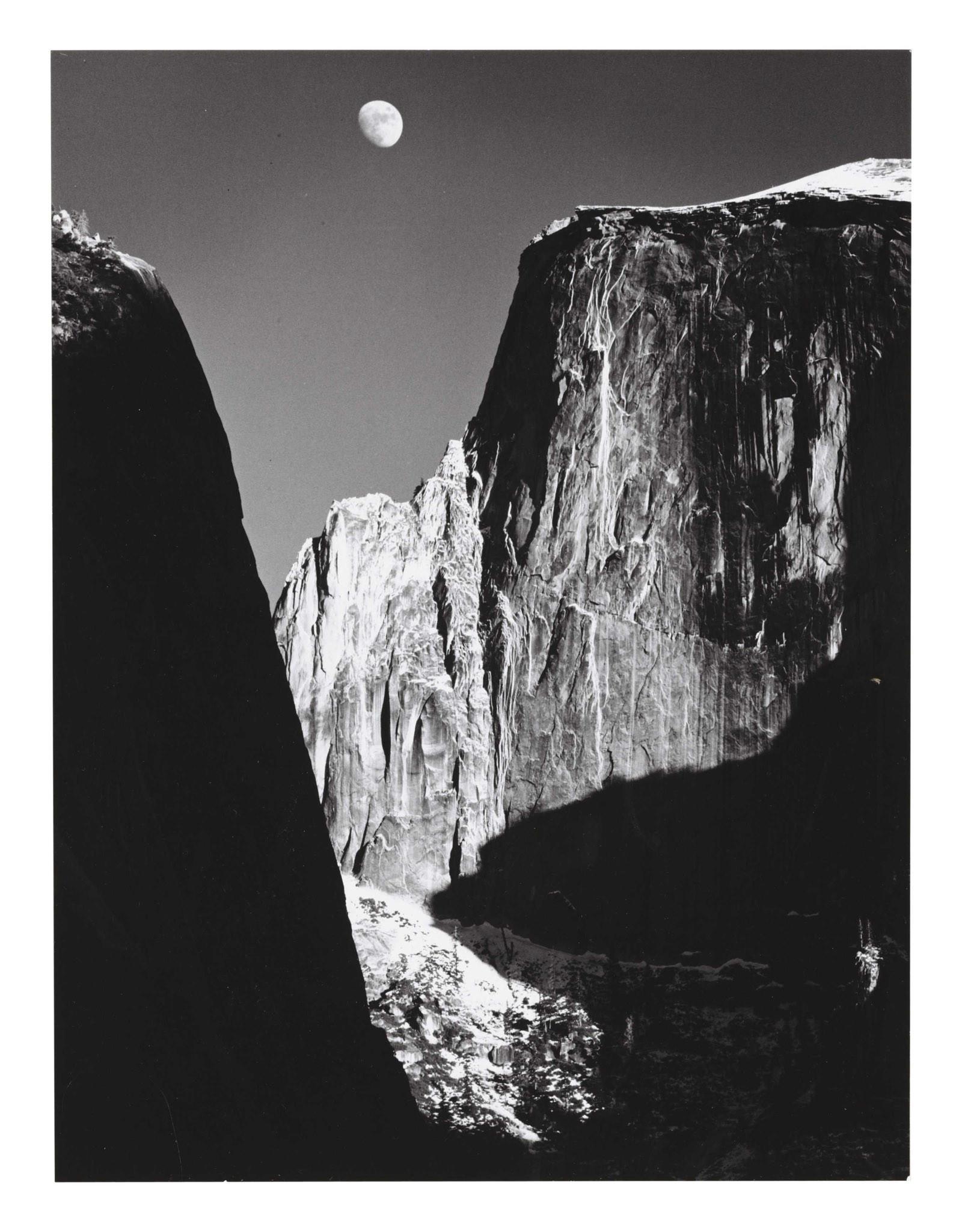 Ansel Adams Moon & Half Dome