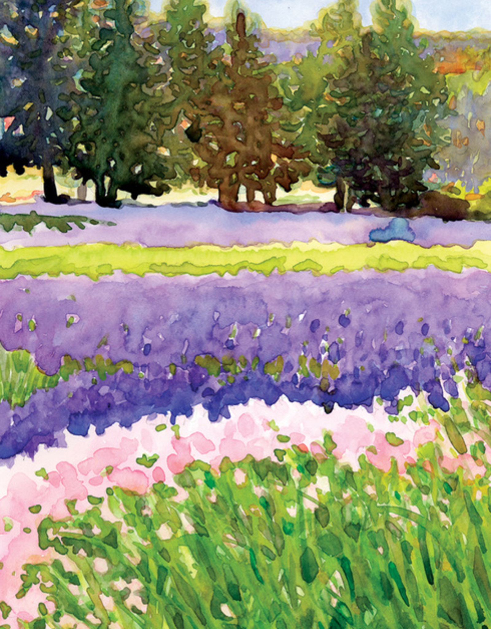 Fields Of Lavender Thank You Card
