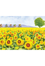 Sunflowers & Bicyclists Birthday Card