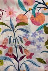 Garden Fruit Cream Silk Scarf