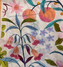 Garden Fruit Cream Silk Scarf