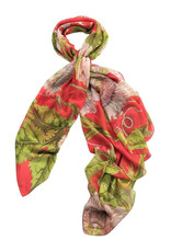 Coral Passion Flower Scarf