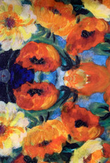 Bunches Of Poppies Silk Scarf