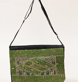 Green Nylon Satchel