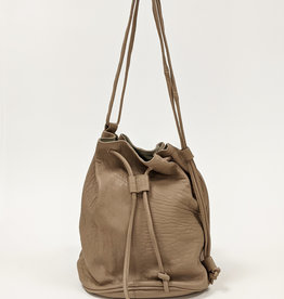 Convertible Leather Bucket Bag