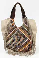 Mirror Embroidered Fabric Bag