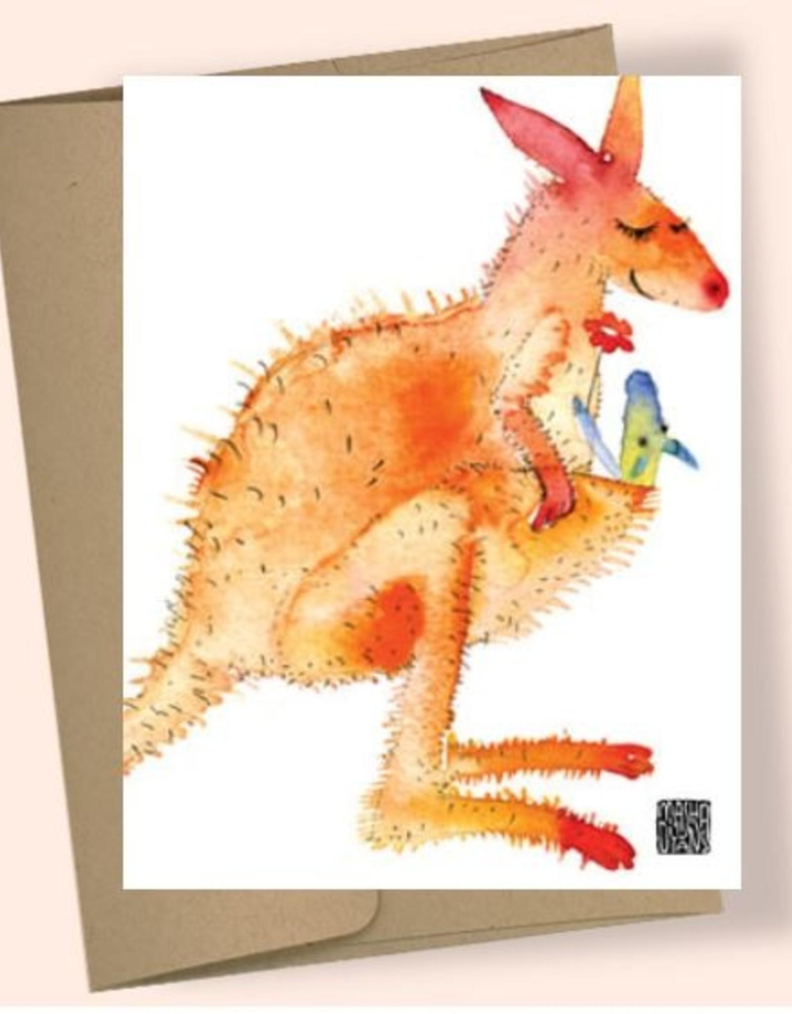 Kangaroo Mothers Day Card