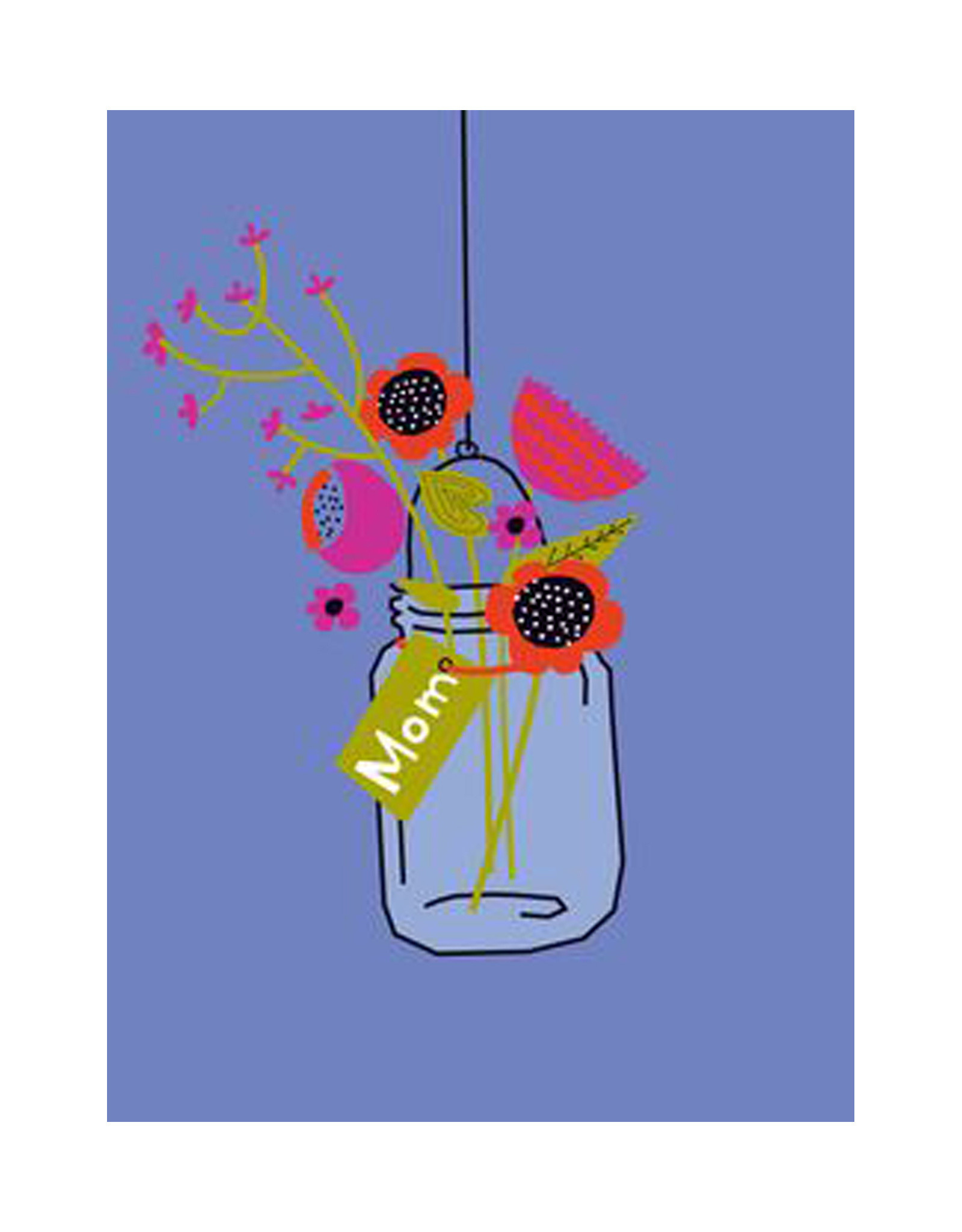 Ball Jar Flowers Mother Day Card
