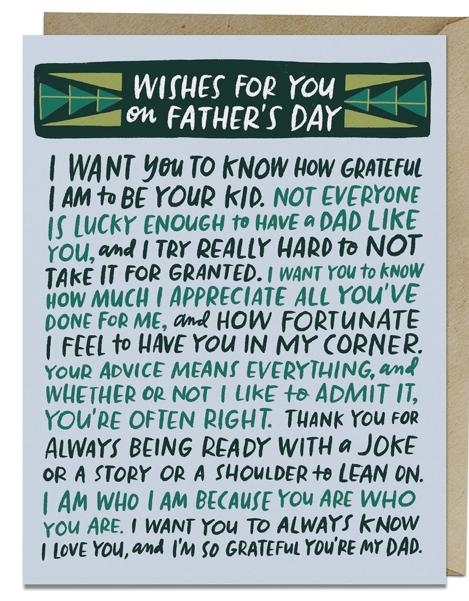 Wishes For Your Father Card