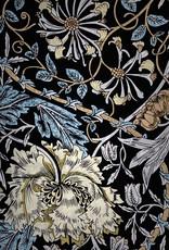 Morris Mix Black Silk Crepe de Chine Scarf