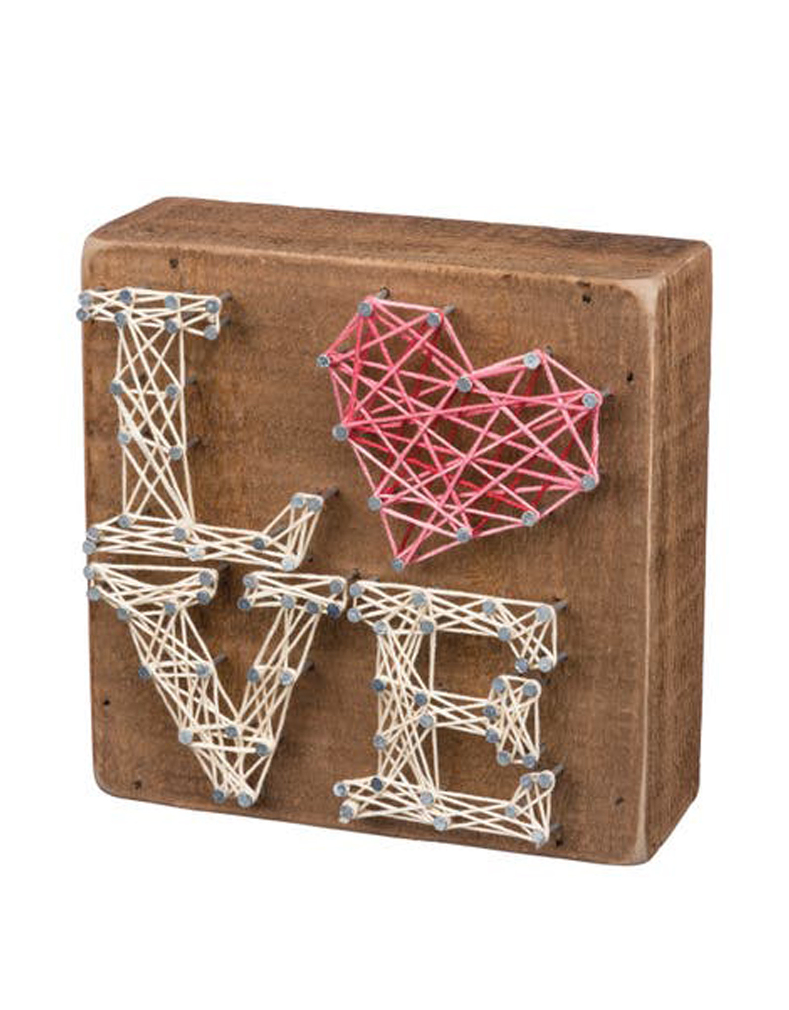 String Art Stacked Love