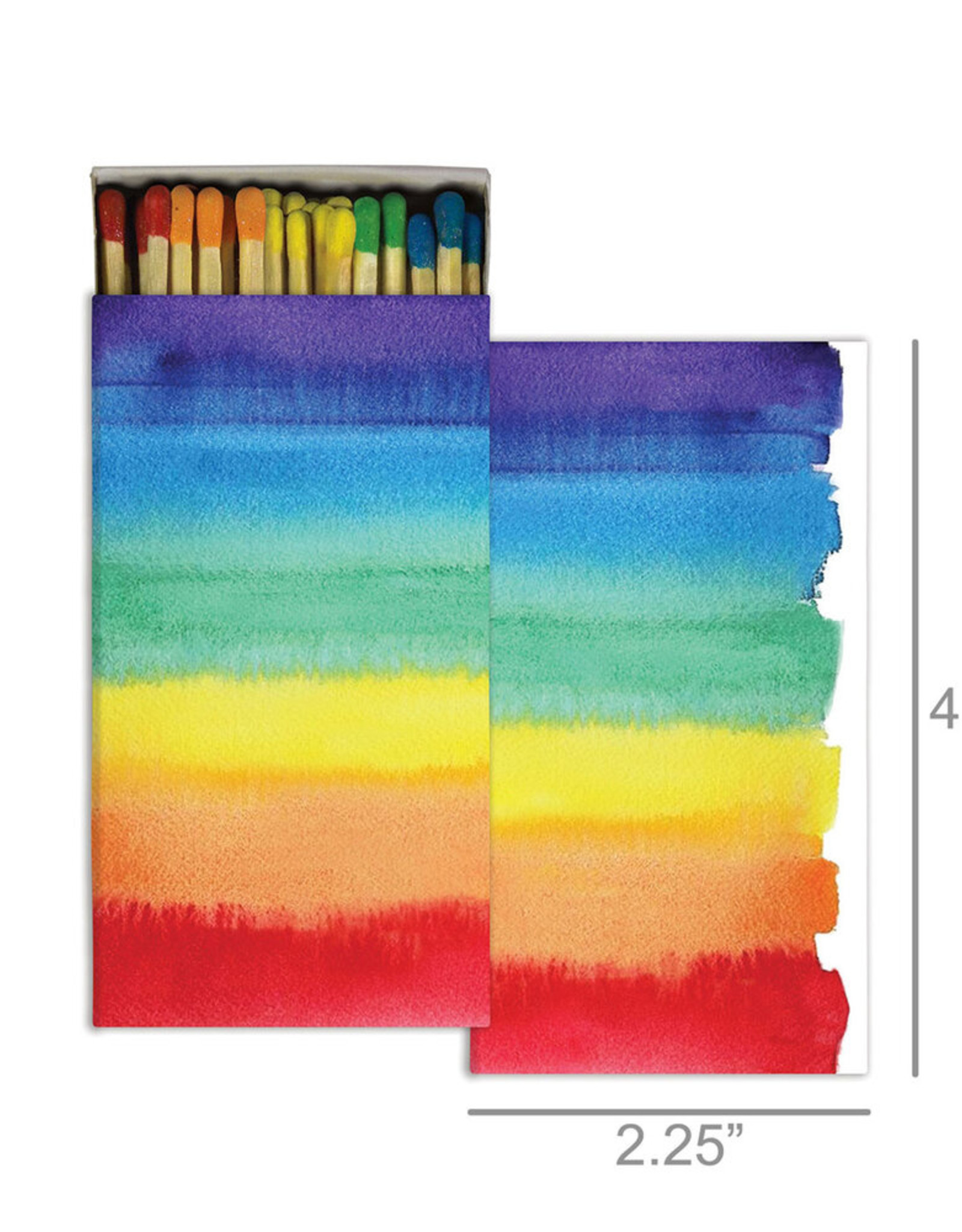 Matches Watercolor Rainbow