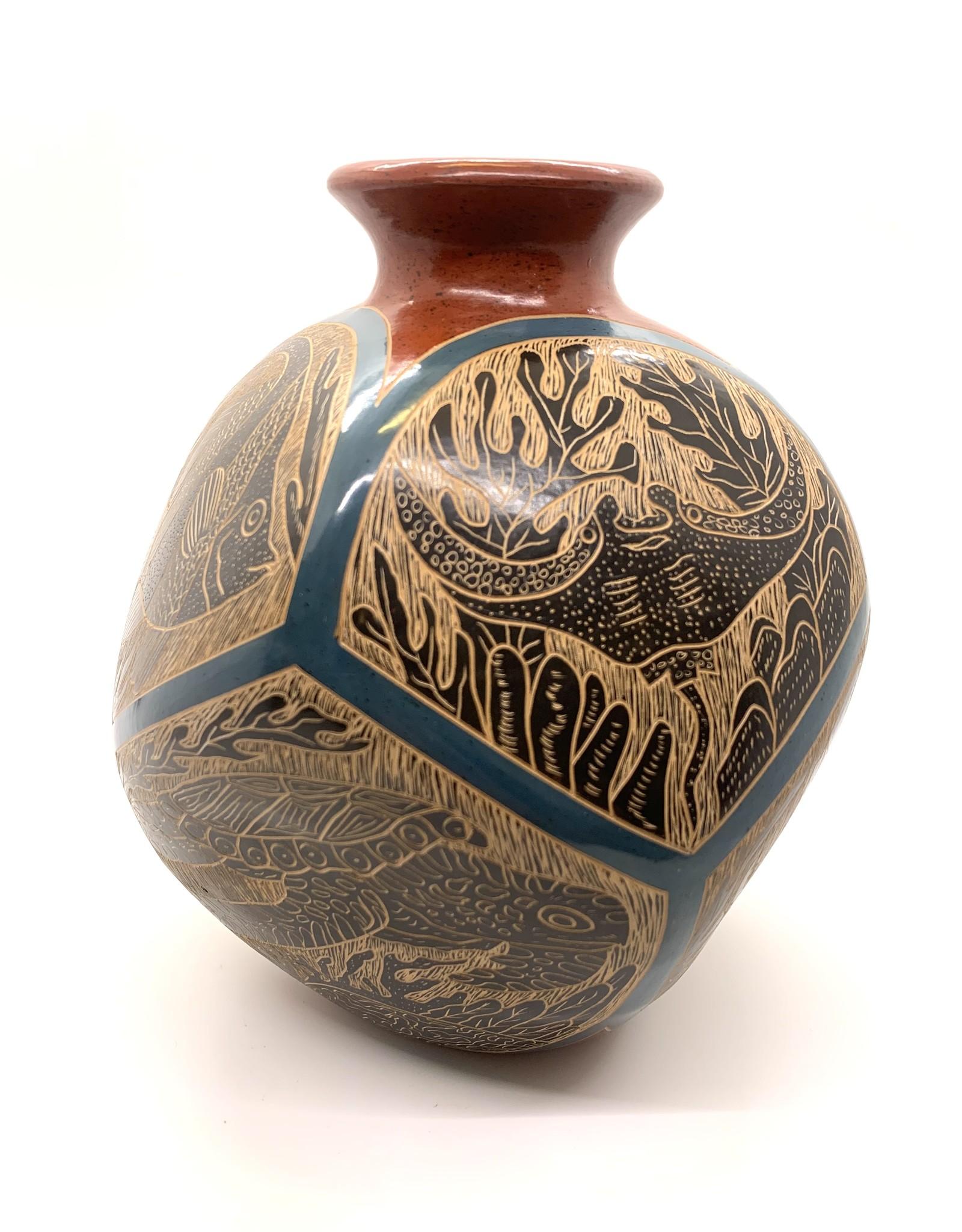 Geometric Sea Creature Vase