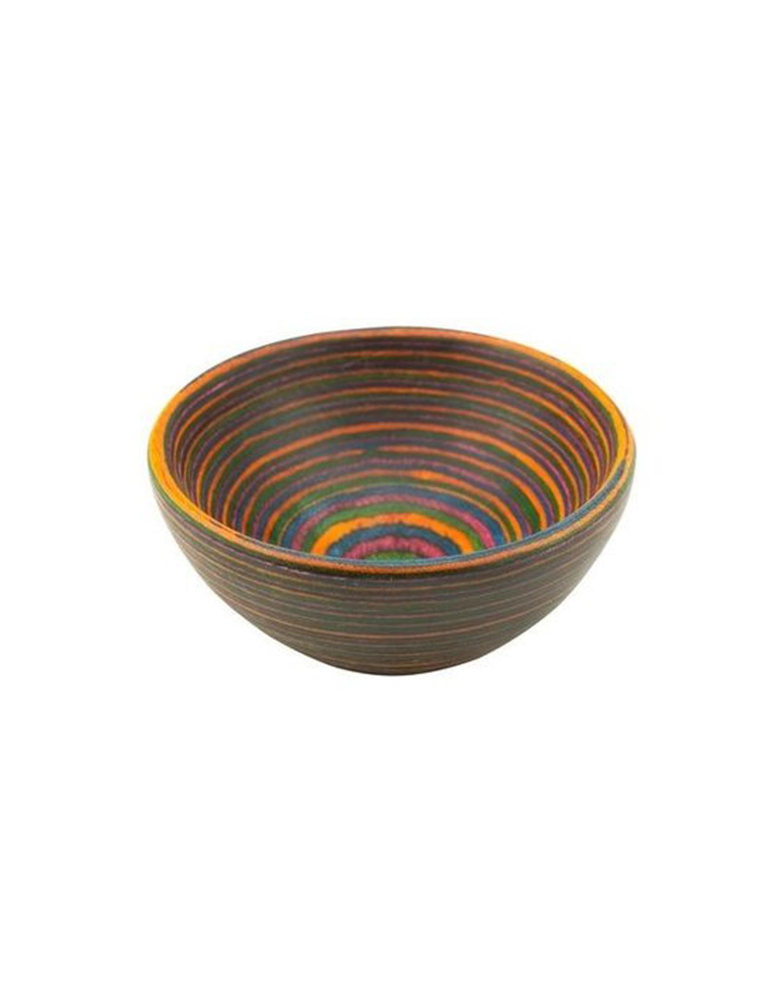 Rainbow Pakkawood Round Pinch Bowl