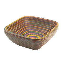 Rainbow Pakkawood Square Pinch Bowl