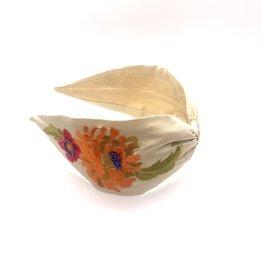 Retro Meadow Embroidered Headband