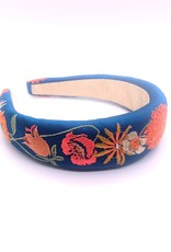 Teal Retro Meadow Padded Headband