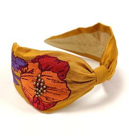 Poppy Embroidered Headband