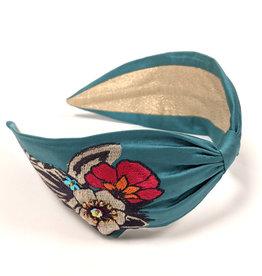 Floral Zebra Embroidered Headband
