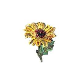 Sunny Sunflower Brooch Pin
