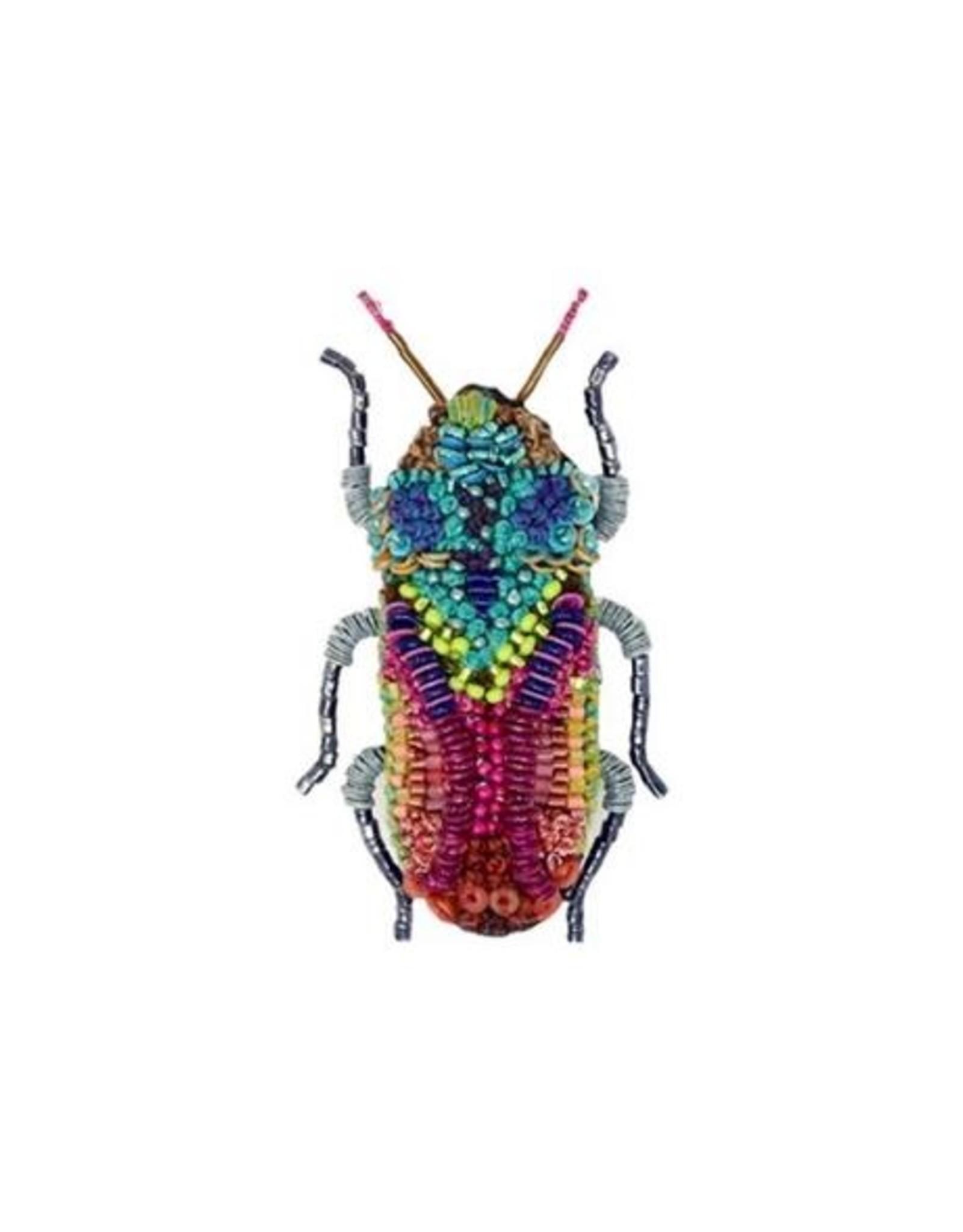 Moroccan Jewel Beetle Brooch Pin