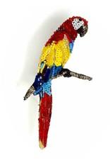 Ara Macaw Brooch Pin