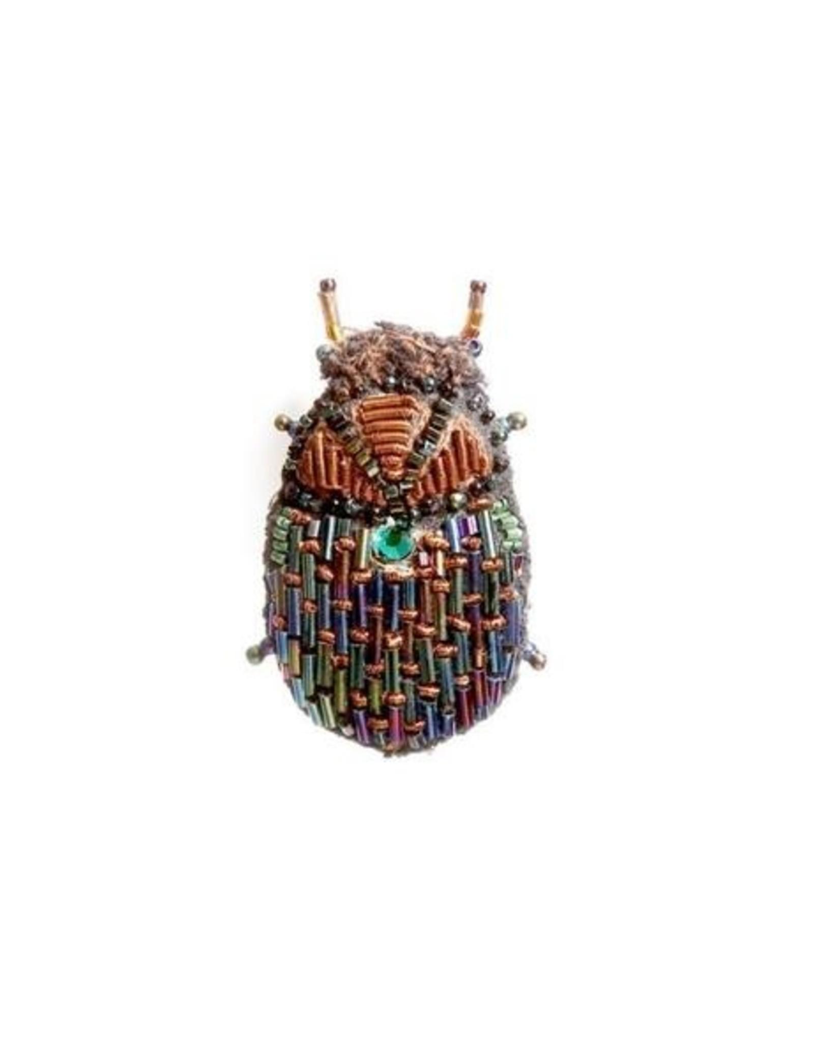 Scarab Beetle Brooch Pin