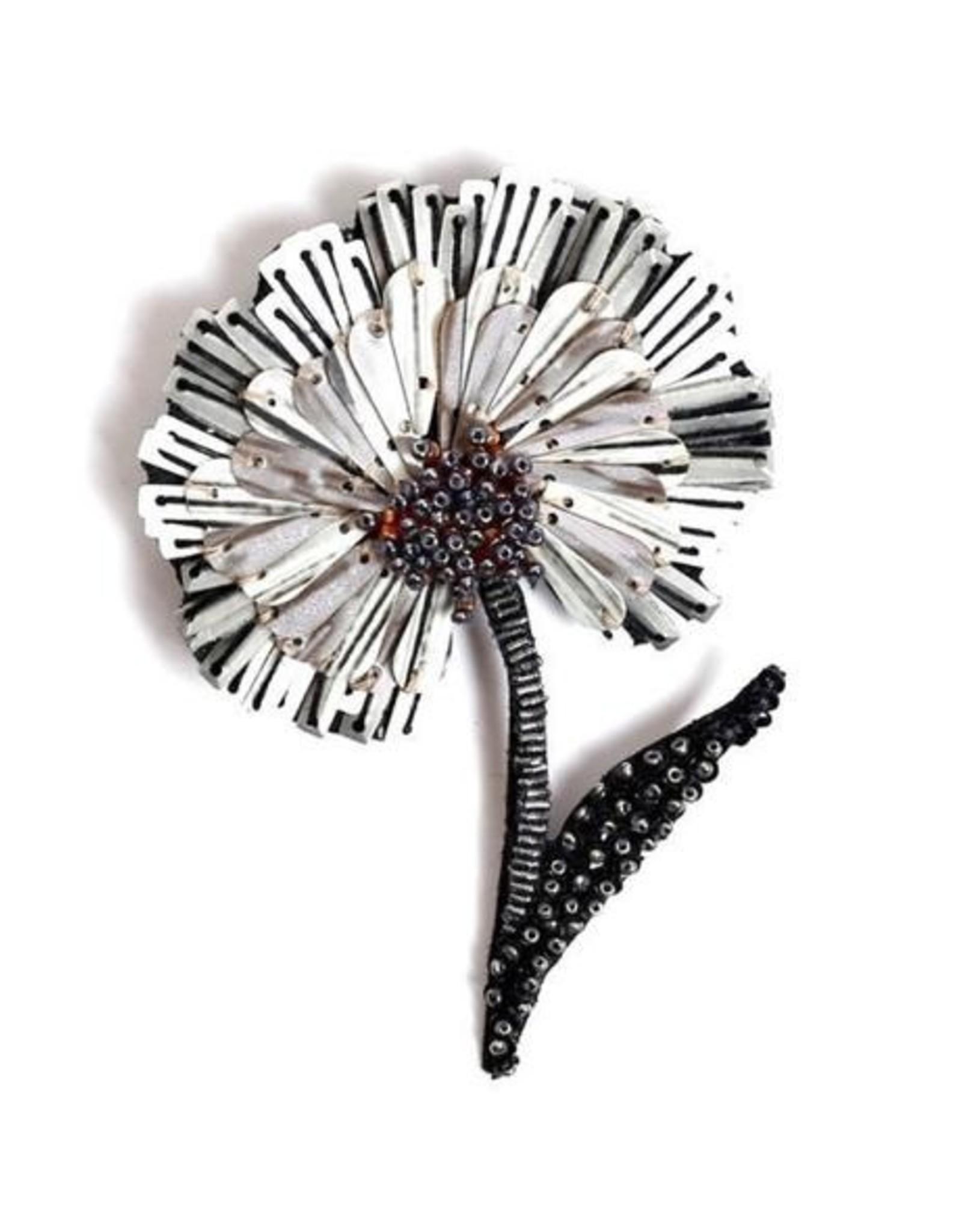 Ruffle Flower Brooch Pin