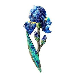 Wild Iris Brooch Pin