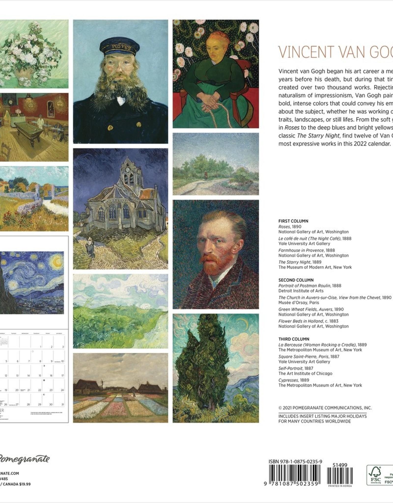 Van Gogh Landscape 2022 Wall Calendar