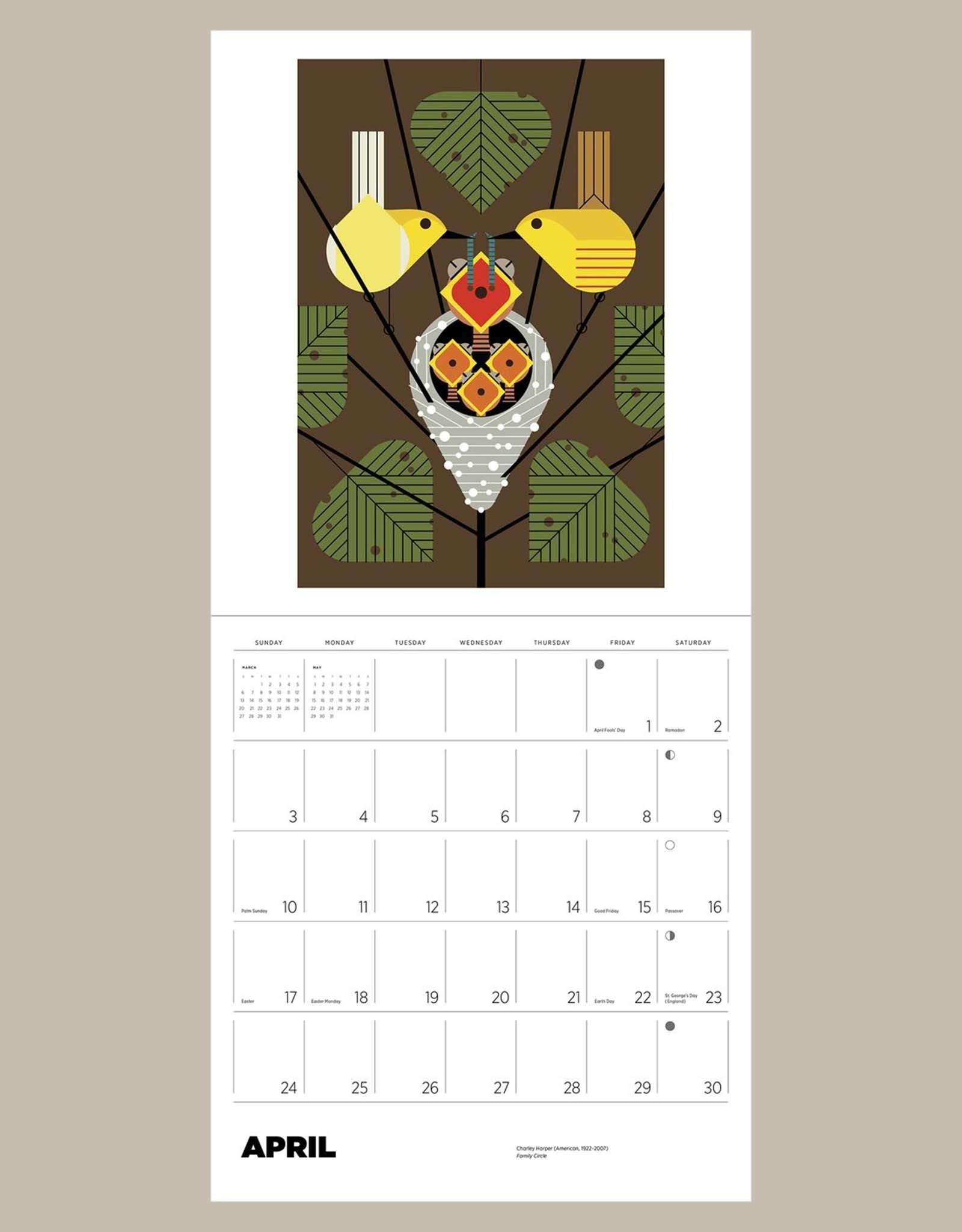 Charley Harper 2022 Wall Calendar