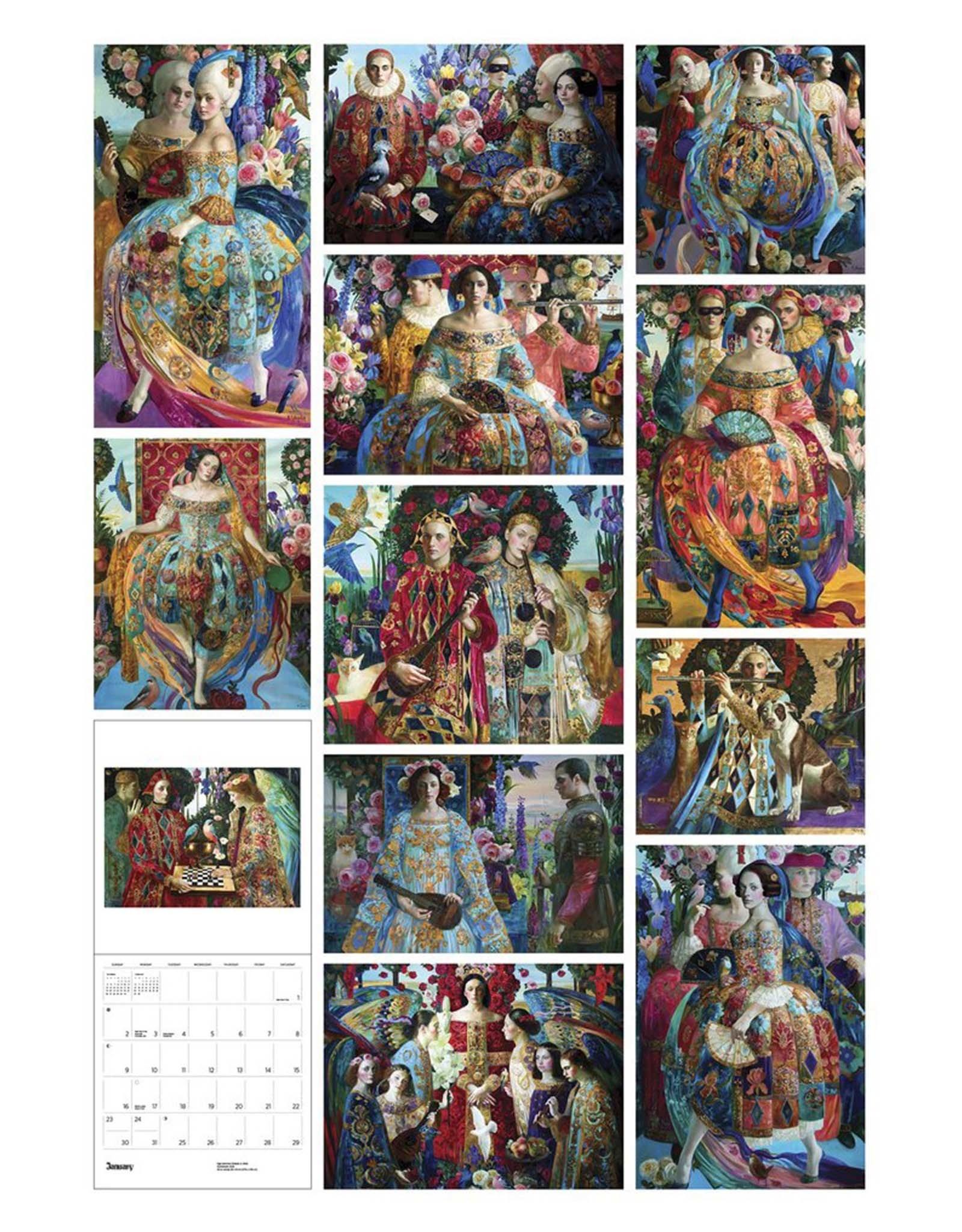 Commedia: Olga Suvorova 2022 Wall Calendar