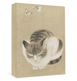Sleeping Cat and Butterflies Boxed Cards