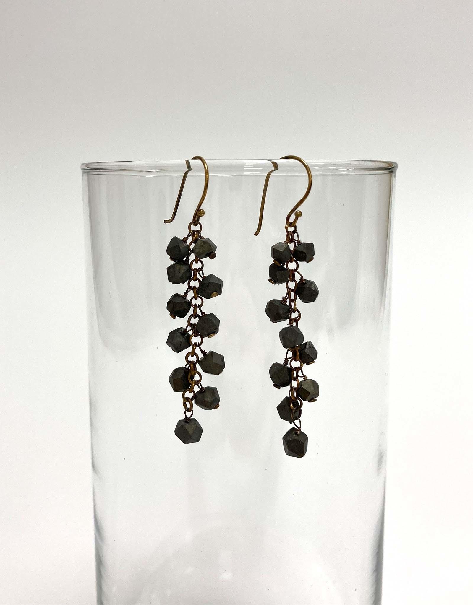Elba Pyrite Dangle Earrings