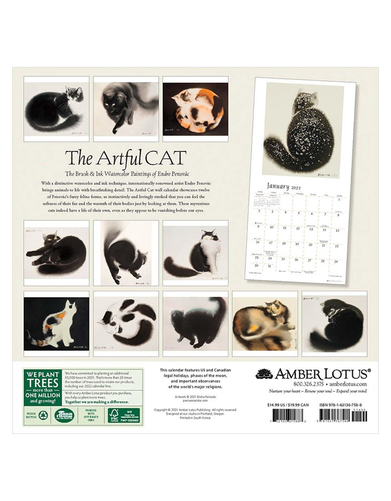 Artful Cat 2022 Wall Calendar