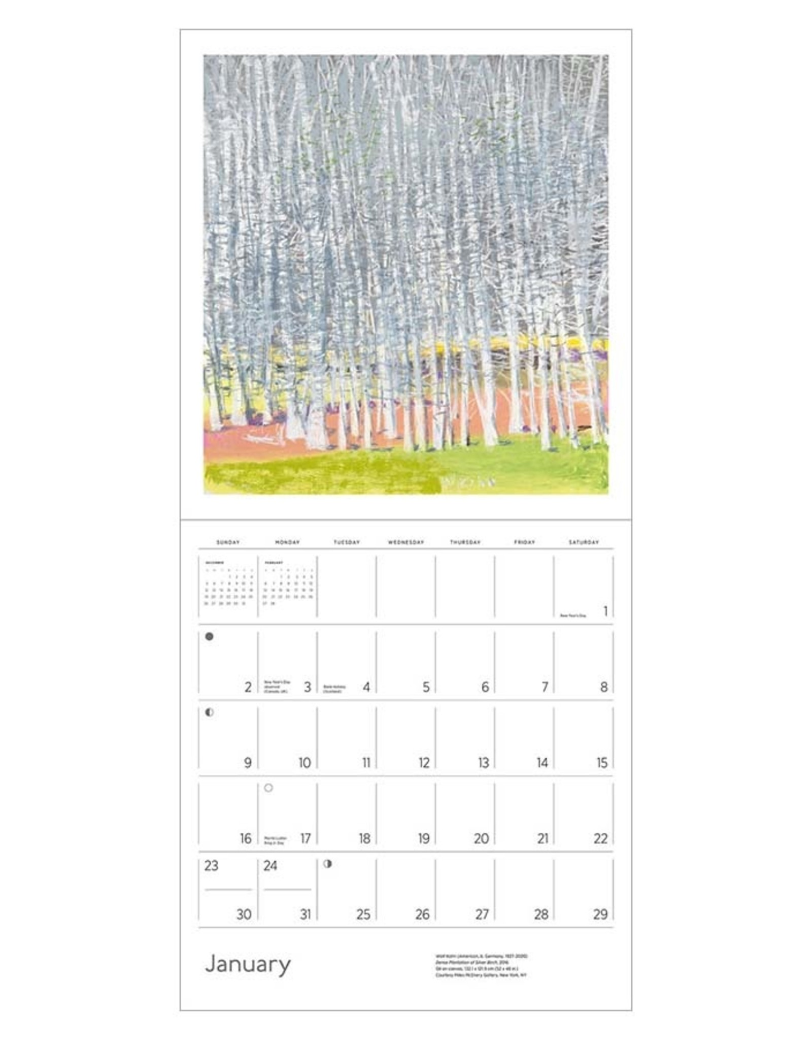 Wolf Kahn 2022 Wall Calendar