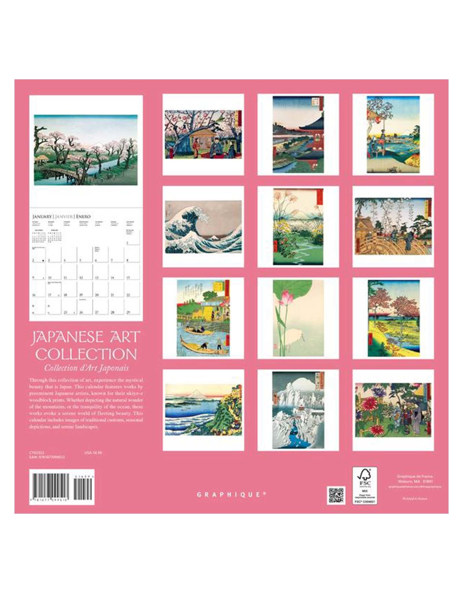 Japanese Art 2022 Wall Calendar