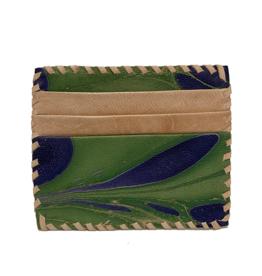 Indigo Green Marbled Card Holder