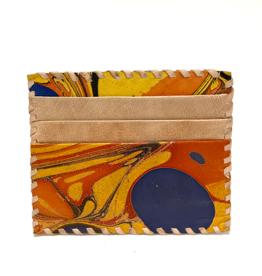 Indigo Yellow Marbled Card Holder