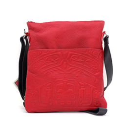 Bear Box Solo Red Leather Bag