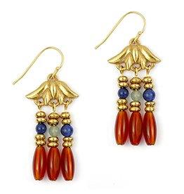 Lotus Triple Drop Earrings