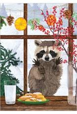 Raccoon Window Boxed Cards